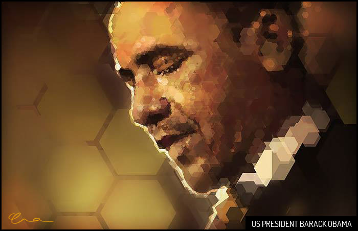 Obama in Hexagons